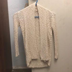 Cream cardigan sweater
